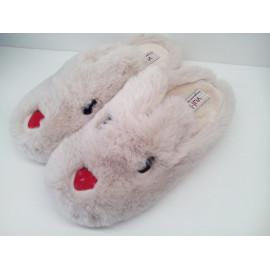 Chinela conejo peluche